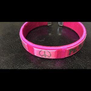Other - Hot Pink PEACE Girls Cuff BRACELET